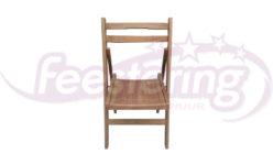 vintage klapstoel van hout